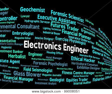 Electronics Engineer Indicates Career Hiring And Mechanic