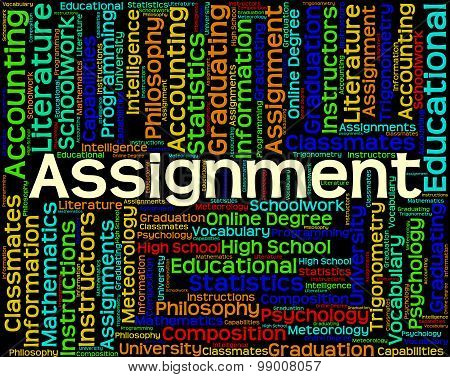 Assignment Word Represents Home Study And Exercises