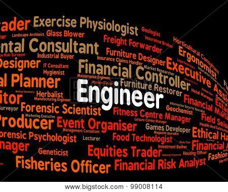 Engineer Job Shows Occupations Career And Engineering