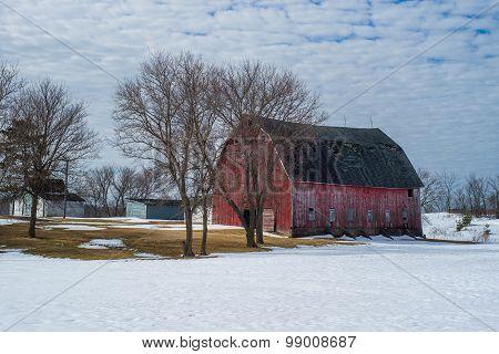 Rurual Farm, Winter, Wisconsin