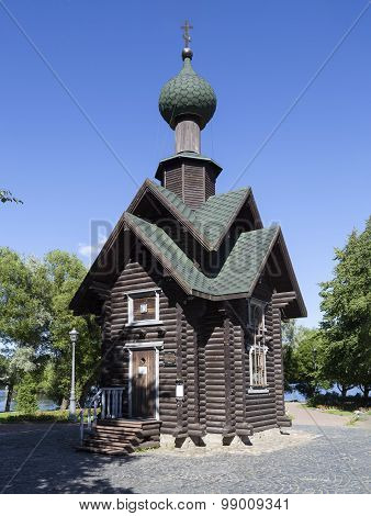 Chapel of St. Nicholas (in memory of the dead submariners Russian fleet) in Sestroretsk. Russia.