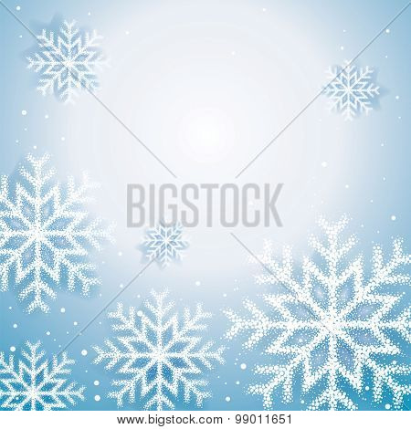 Christmas snow flakes abstract background.