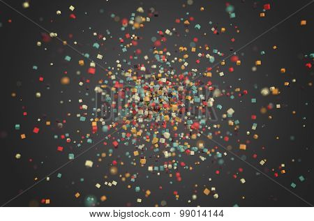 Abstract Rendering of Colored Chaotic Particles.