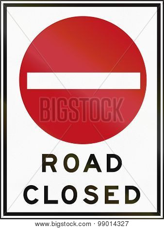 Road Closed In Canada