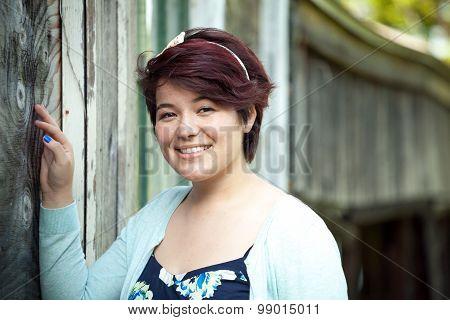 Smiling Brunette Teen