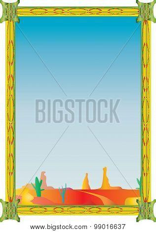 Desert inspired frame.