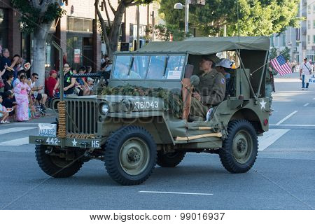 World War Ii Military Vehicle With Veterans.