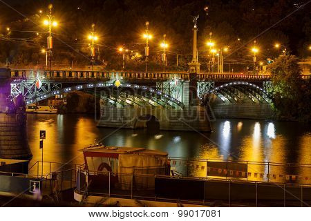 Svatopluk Cech Bridge In Prague
