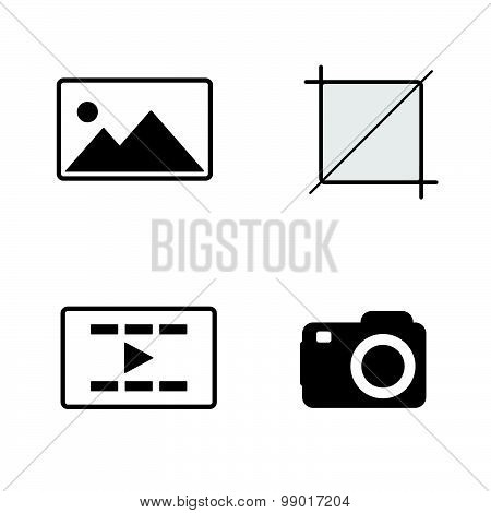 Camera Shot Black Vector