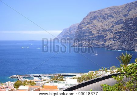 Giant volcanic Los Gigantes cliffs on Tenerife, Spain