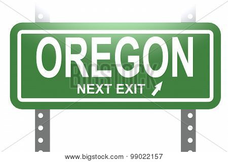 Oregon Green Sign Board Isolated
