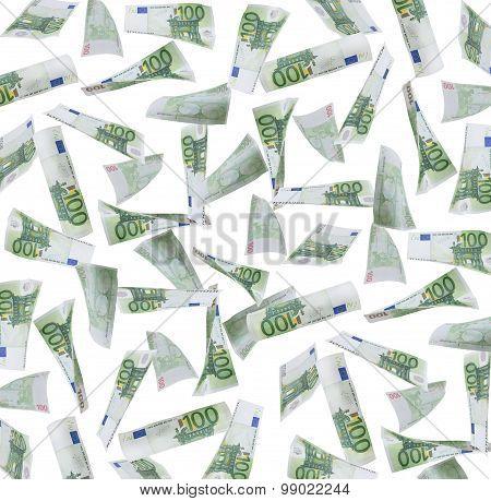Hundred Euro Notes Background