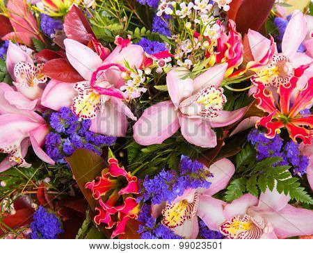 Abstract background flowers, nature pattern