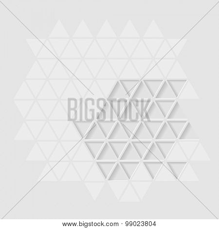White abstract background pattern, eps10 vector