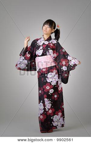 Happy Japanese Girl Dancing