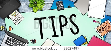Tips Service Change Restaurant Server Waiter Waitress Concept