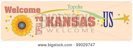 Banner Welcome To Kansas