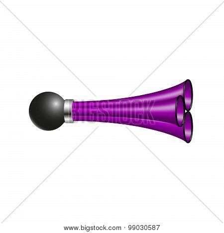 Triple air horn in purple design
