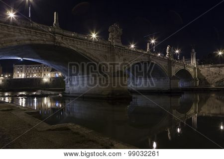 Bridge on River Tiber