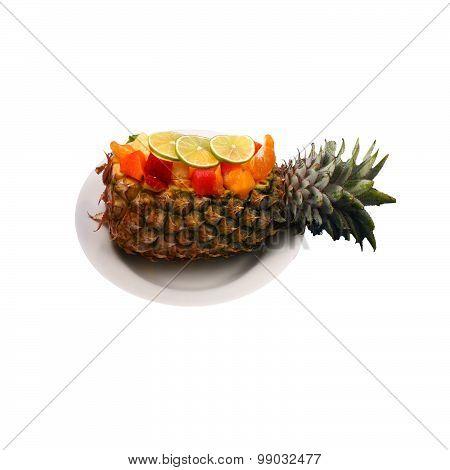 Isolated Fruit Salad Boat