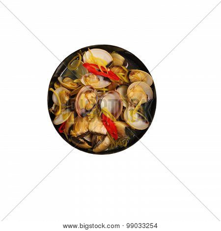 Isolated Clam Soup