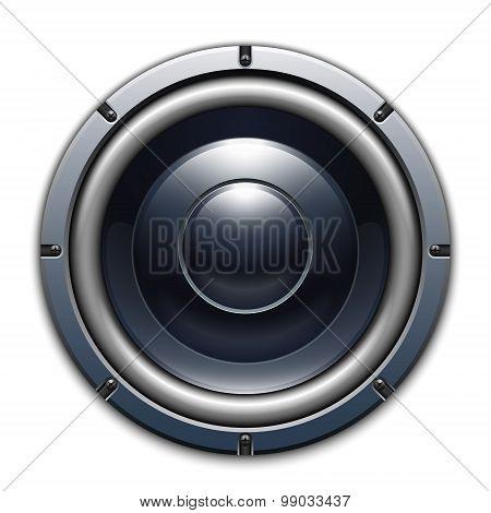 Audio Speaker Icon Isolated On White Background