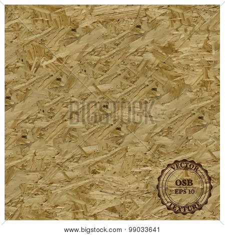 Osb Texture, Vector Illustration.