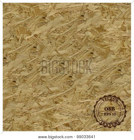 Osb Texture, Vector Illustration.