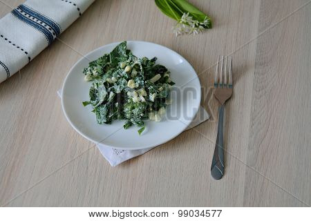 Appetizer With Wild Leek And Eggs