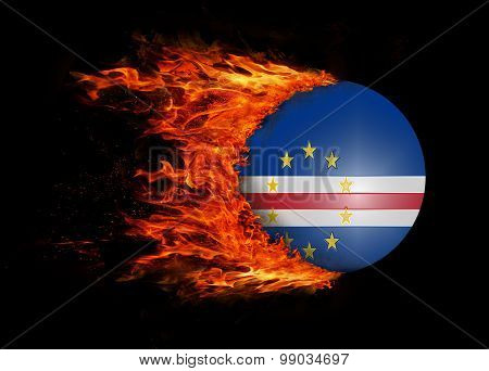 Flag With A Trail Of Fire - Cape Verde