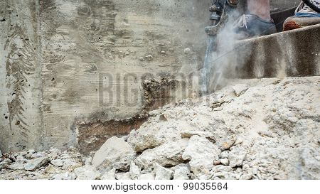 Jackhammer In Action