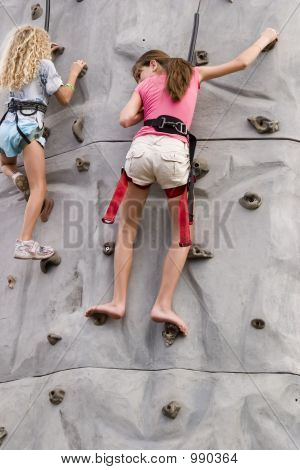 Girls Rock Climbing 1