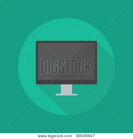 Technology Flat Icon. Monitor