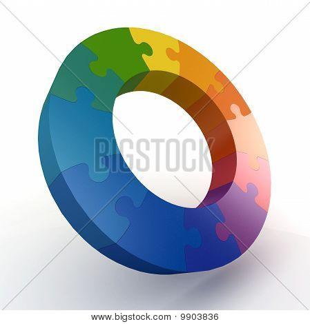3D Puzzle Color Wheel