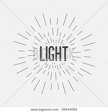 Abstract Creative concept vector design layout with text - light. For web and mobile icon isolated o
