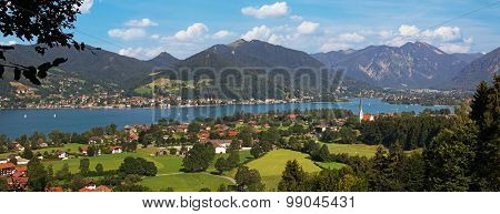 View To Lake Tegernsee And Mountains, Bavaria
