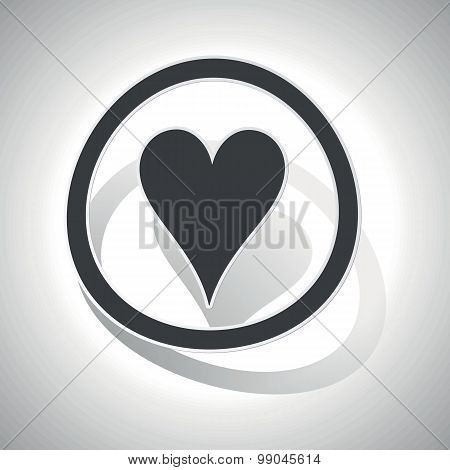 Curved hearts sign icon