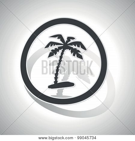 Curved vacation sign icon