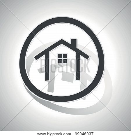 Curved cottage sign icon