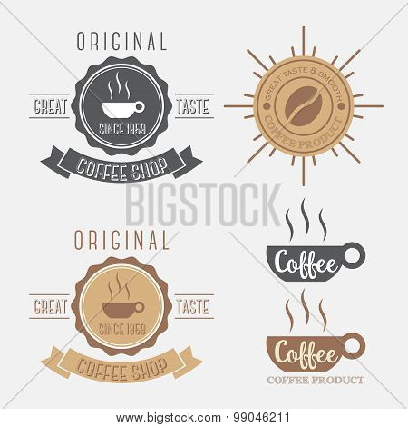 Set of coffee banner logo