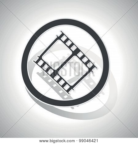 Curved movie sign icon