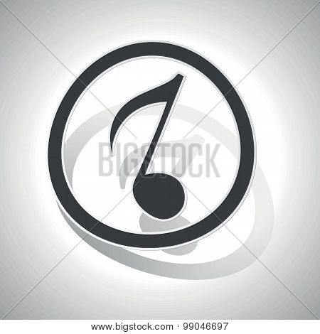 Curved music sign icon 3