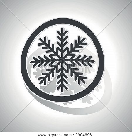 Curved cold sign icon