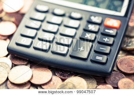Money, Coins, Calculator, Euro