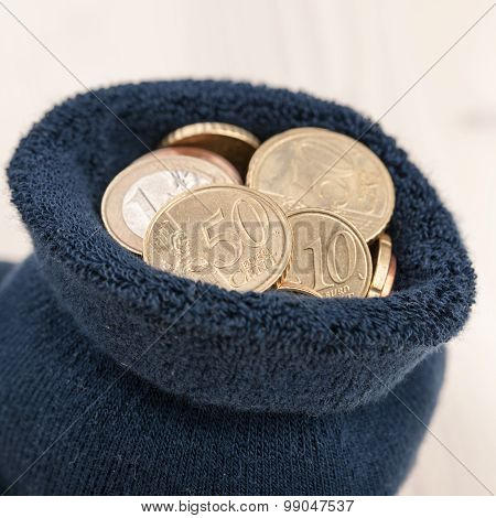 Coins In Sock