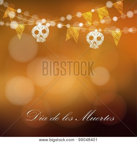 Dia De Los Muertos (day Of The Dead) Or Halloween Card, Invitation