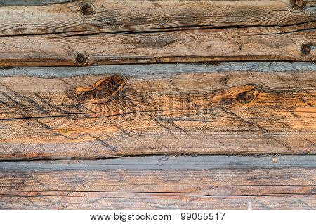 Old Wooden Plank Wall, Brown Board Texture