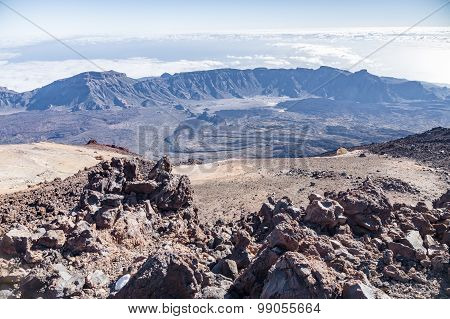 Wide View On The Caldera Of The Volcano Teide, Tenerife