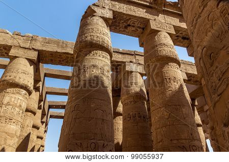 Pillars Temple Of Karnak