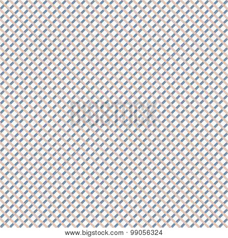 Seamless Pattern Of Diagonal Checkered Stripes
